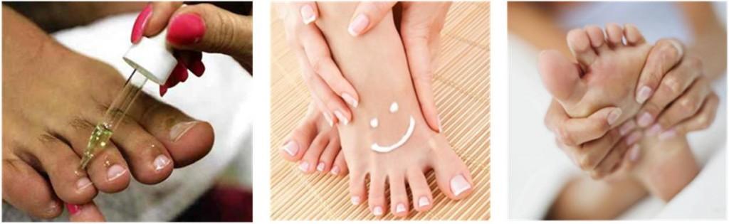 Nourrir, hydrater et masser ses pieds