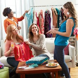 Troc de vêtements entre amis