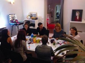 Ateliers de groupe de conseil en image sur le thème des couleurs