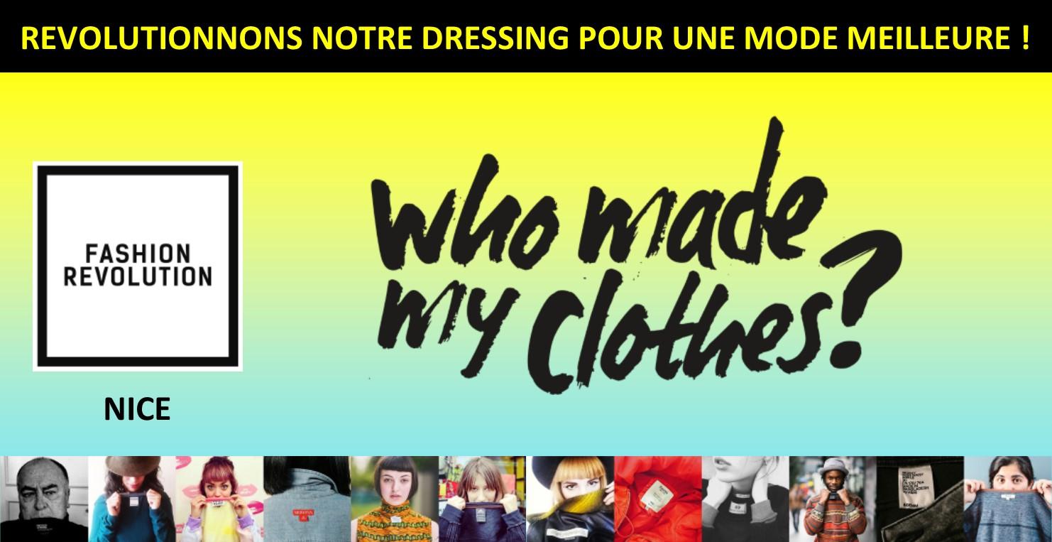 Fashion revolution à Nice - mode éthique