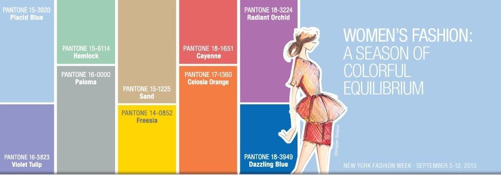 Couleurs Pantone printemps-été 2014 - femmes