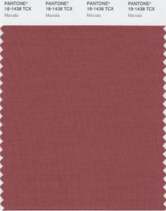 Coupon couleur Pantone Marsala