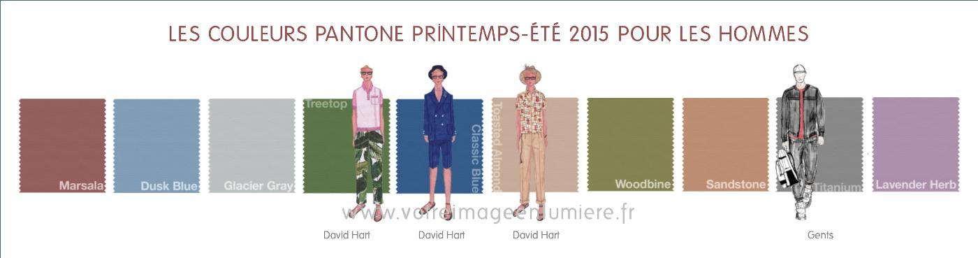 Les 10 couleurs Pantone printemps-été 2015 pour hommes illustrées par les créateurs