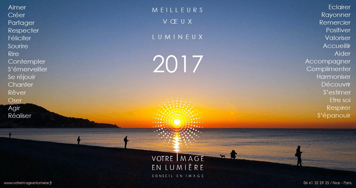 Meilleurs vœux lumineux 2017