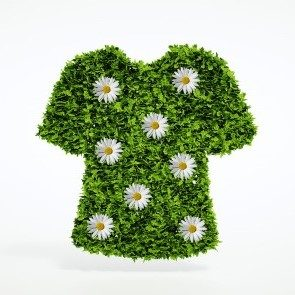 Tee-shirt symbolisant l'écologie et la mode éthique