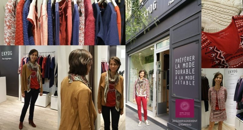 Accompagnement shopping chez Ekyog - mode éthique