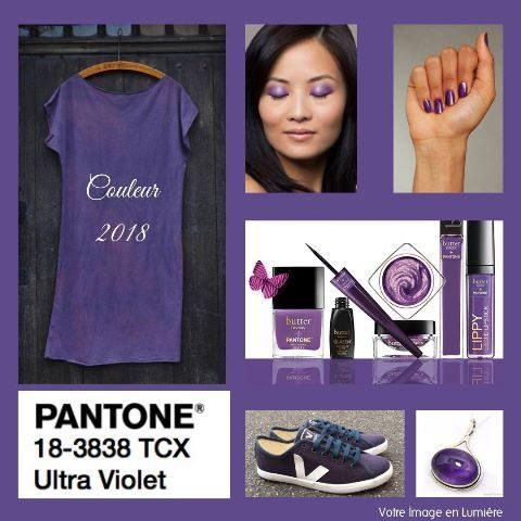 Ultra violet Pantone 2018 - Cosmétiques et vêtements et accessoires couleur Ultra violet