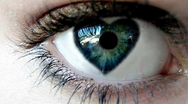 Photo iris en forme de coeur