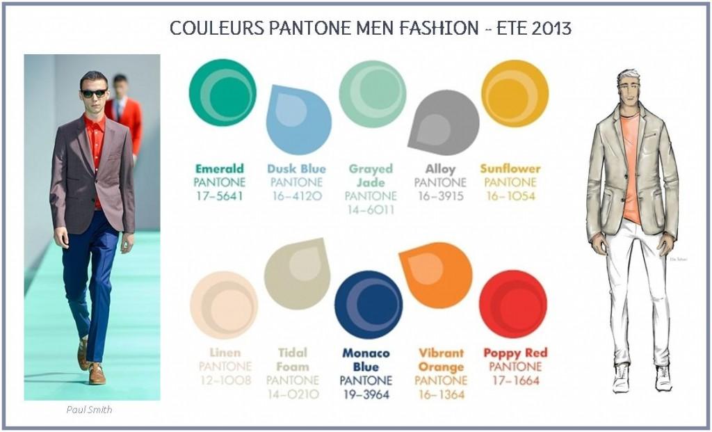 Couleurs Pantone mode hommes été 2013