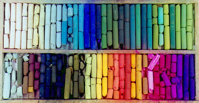Photo craies de couleur