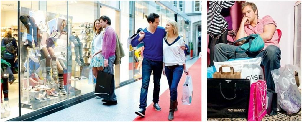 Shopping hommes et femmes