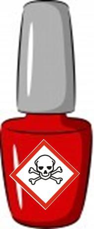 Vernis avec étiquette danger