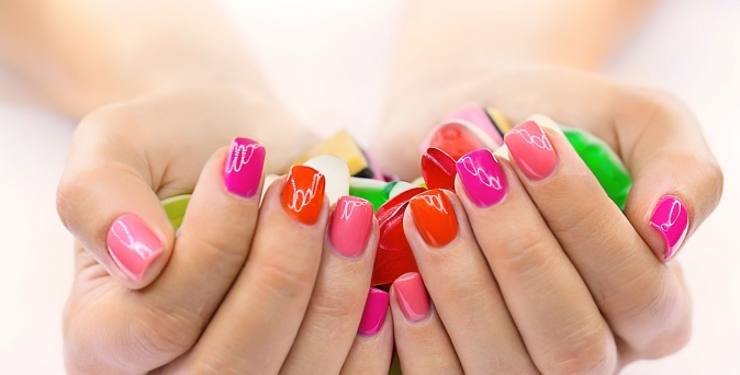 ongles vernis multicolores