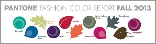 Pantone toutes couleurs automne 2013