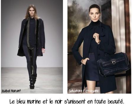 Bleu marine et noir réunis, conseil en image, relooking, makeover