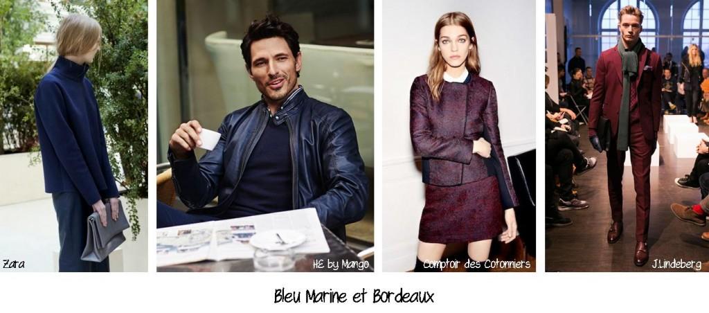 Bleu Marine et Bordeaux, conseil en image, relooking, makeover