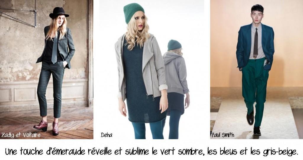 Planche9_Emeraude, vert sombre, bleus et gris-beige