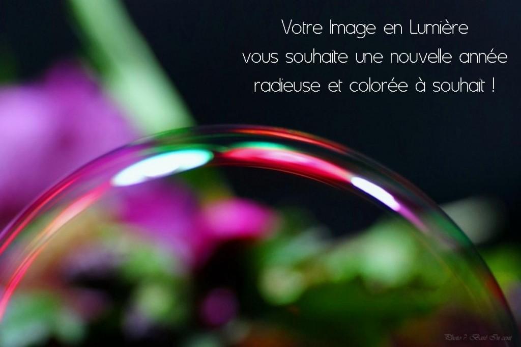 Voeux Votre image en lumière_bulle de savon macro