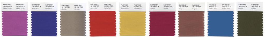 Les 9 couleurs Pantone Fashion automne 2014 communes aux hommes et aux femmes