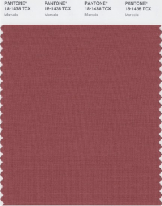 Coupon couleur Pantone Marsala