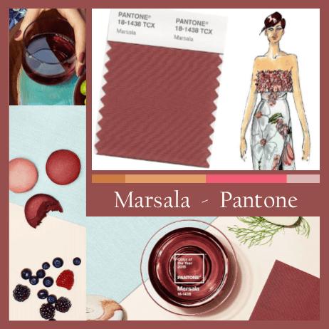 Composition Votre Image en Lumière aux couleurs de Marsala Pantone