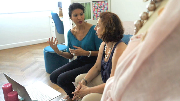Pascale Loko et sa cliente, Bilan d'image, image de soi, image souhaitée, conseil en image et communication