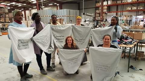 chaussettes écoresponsables - Chaussettes Orphelines -centre de tri Espérance