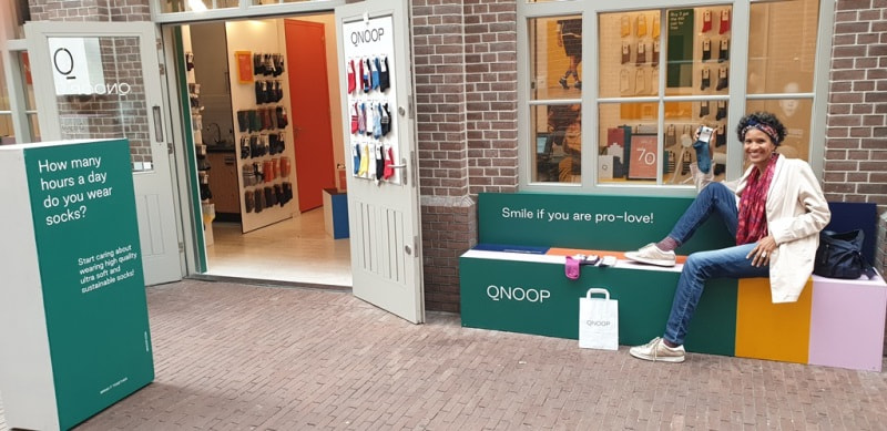Chaussettes écoresponsables et biologiques - boutique Qnoop Amsterdam