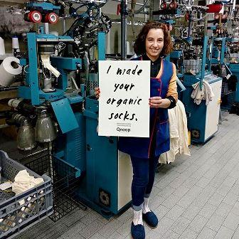 Chaussettes écoresponsables Qnoop - Fashion Revolution