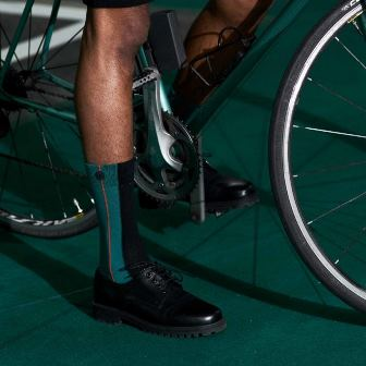 Chaussettes écoresponsables Qnoop pour homme - chaussettes vertes