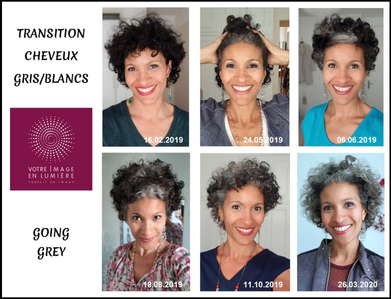Assumez vos cheveux blancs - Transition Evolution - Going grey