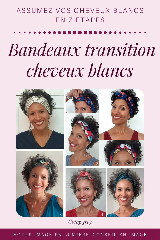 Bandeaux transition - Assumez vos cheveux blancs